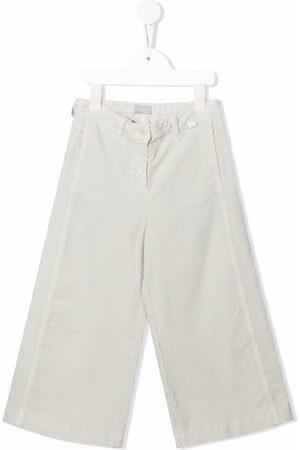 Il gufo Wide-leg cotton trousers - Grey