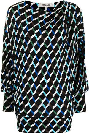 Diane von Furstenberg Women Casual Dresses - Reese matte-jersey geometric-print dress - Multicolour