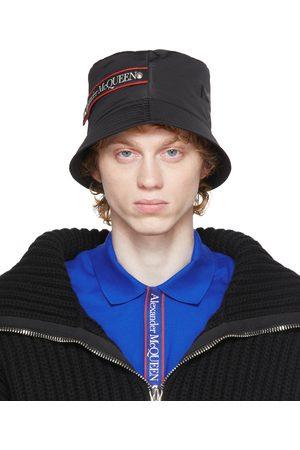 Alexander McQueen Black Graffiti Logo Bucket Hat