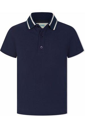 Fendi Boys Polo Shirts - Logo-trim polo shirt