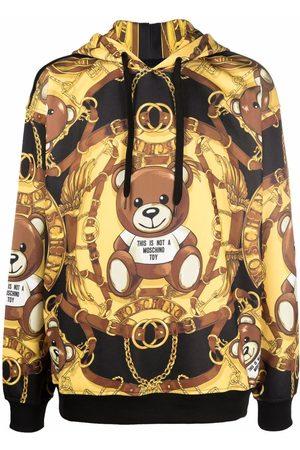 Moschino Men Hoodies - Teddy Bear-print drop-shoulder hoodie
