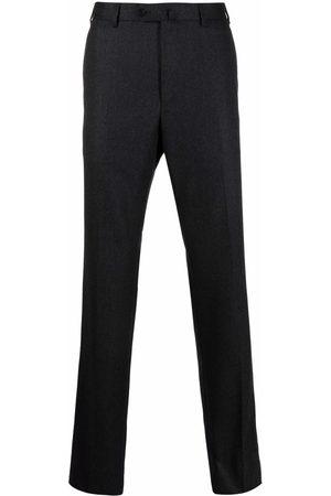 CARUSO Men Straight Leg Pants - Wool straight-leg trousers - Grey
