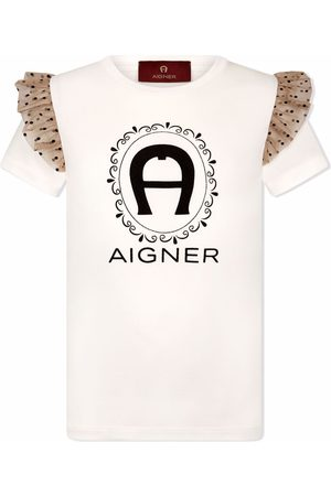 Aigner Ruffled-detail short-sleeved T-shirt