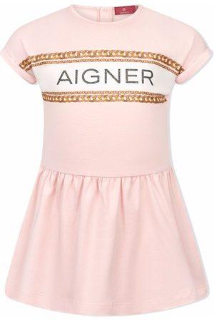 Aigner Chain logo-print dress
