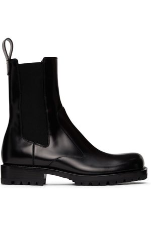 DRIES VAN NOTEN Black Polished Leather Chelsea Boots