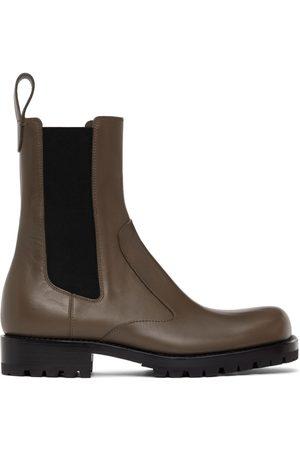 DRIES VAN NOTEN Men Chelsea Boots - Brown Leather Chelsea Boots