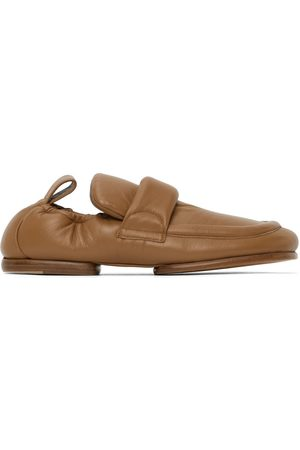 DRIES VAN NOTEN Men Loafers - Beige Leather Padded Loafers