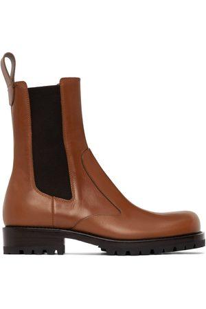 DRIES VAN NOTEN Men Chelsea Boots - Tan Leather Chelsea Boots
