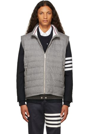 Thom Browne Men Ski Accessories - Grey Down Boiled Wool Ski Vest