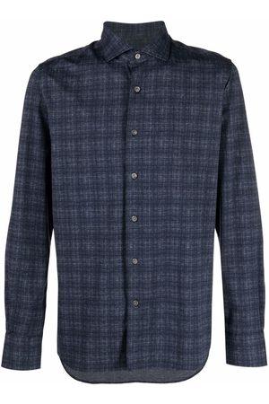 Orian Check-print buttoned-up shirt