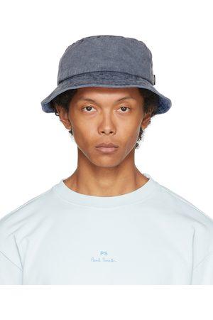 Paul Smith Men Hats - Navy Denim Bucket Hat