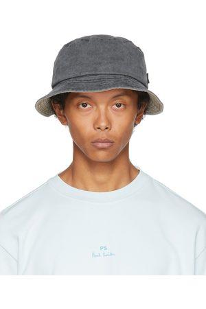 Paul Smith Men Hats - Grey Denim Bucket Hat