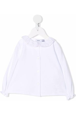 KNOT Baby Blouses - Ruffle-collar long-sleeved blouse