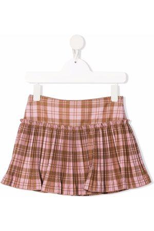Il gufo Check print mini skirt