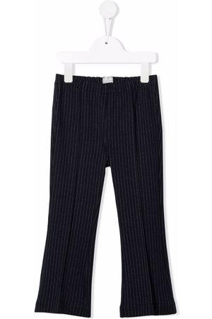 Il gufo Pinstripe-print wide-leg trousers