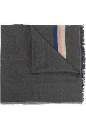 Paul Smith Men Scarves - Striped twill scarf - Grey