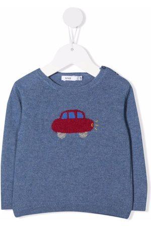 KNOT Car-print crew neck sweater