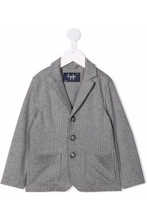 Il gufo Pinstripe jersey blazer - Grey