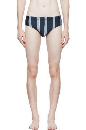 COMMAS Blue Stripe Swim Shorts
