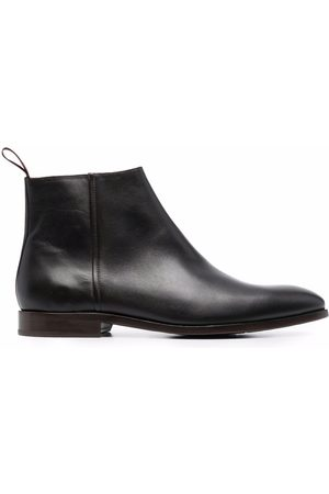 Paul Smith Men Ankle Boots - Zipped leather ankle boots