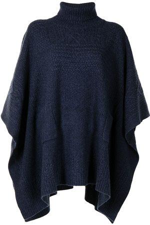 Ralph Lauren Women Ponchos & Capes - Cable-knit roll-neck cape