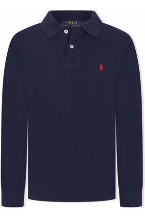 Ralph Lauren Boys Polo Shirts - Polo Pony long-sleeve polo shirt