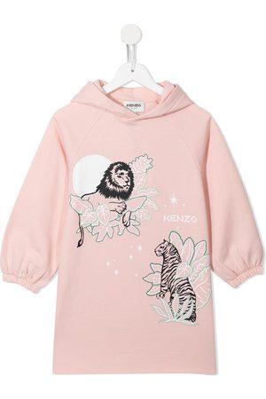 Kenzo Logo-print hooded jumper dress