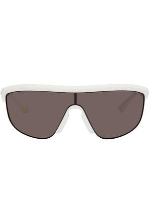 Bottega Veneta Men Sunglasses - White Matte Shield Sunglasses