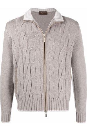 Doriani Cashmere Cable-knit cashmere cardigan - Neutrals