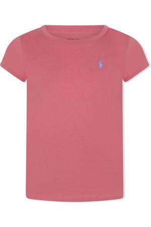 Ralph Lauren Girls Short Sleeve - Embroidered-logo short-sleeved T-shirt