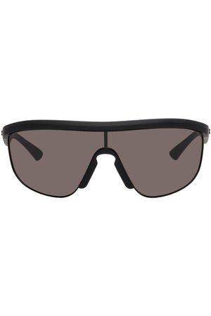 Bottega Veneta Men Sunglasses - Black Matte Shield Sunglasses