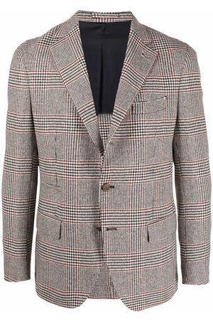 ELEVENTY Houndstooth suit jacket - Neutrals