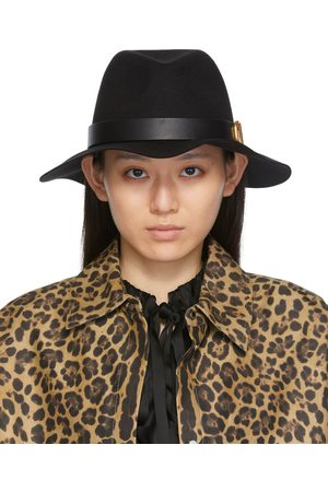 VALENTINO GARAVANI Women Hats - Black VLogo Signature Fedora