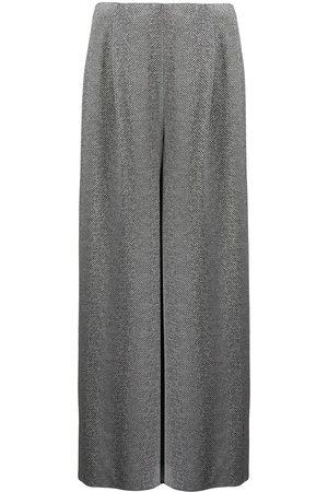 Armani Chevron-knit palazzo trousers - Grey