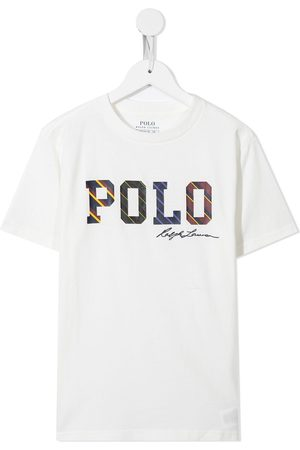 Ralph Lauren Boys Polo Shirts - Polo logo-print T-shirt