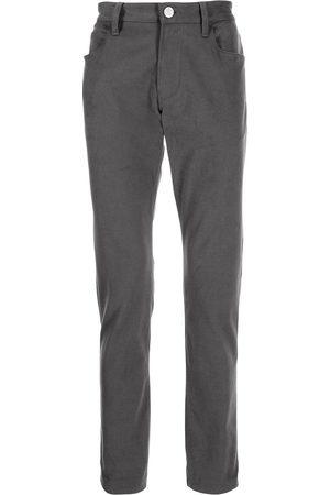 Armani Mid-rise straight-leg trousers - Grey