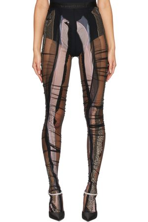 Y / PROJECT Lace Strip Tights