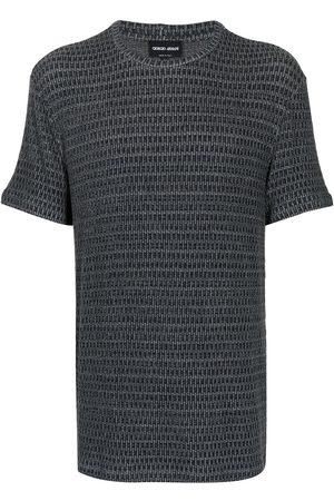 Armani Interwoven round-neck T-shirt