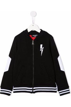 Neil Barrett Boys Bomber Jackets - Colour-block zipped jacket