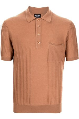 Armani Men Polo Shirts - Cashmere knitted polo shirt