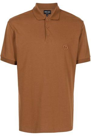 Armani Logo-embroidered cotton polo shirt