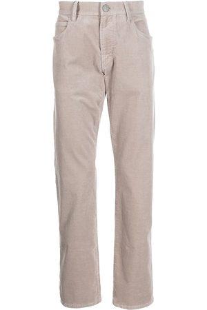 Armani Men Straight Leg Pants - Mid-rise straight-leg trousers