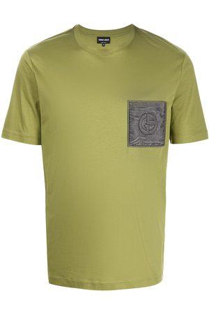 Armani Logo-patch cotton T-shirt