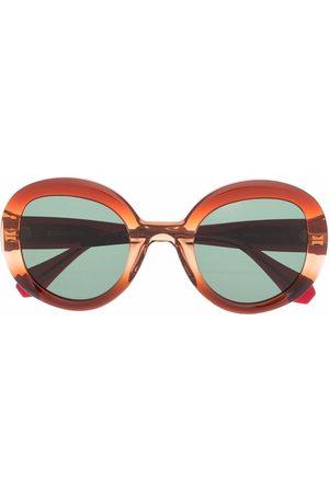 GIGI Oversized round-frame sunglasses