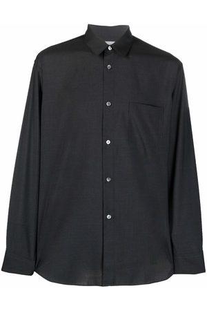 Comme des Garçons Men Casual - Button-up wool overshirt - Grey