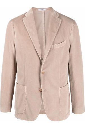 Boglioli Single-breasted cotton blazer - Neutrals