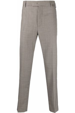 PT01 Men Formal Pants - Houndstooth tailored trousers