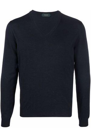 ZANONE Men Sweatshirts - V-neck fine-knit jumper