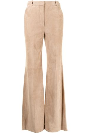 Joseph Women Leather Pants - Flared leather trousers