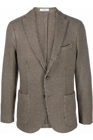 Boglioli Men Blazers - Houndstooth-patterned blazer - Neutrals